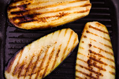 Fried sliced eggplant Royalty Free Stock Images