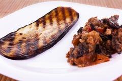 Fried sliced eggplant Stock Photography