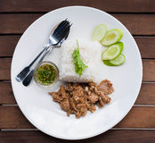 Fried Sliced Pork with Garlic Stock Images