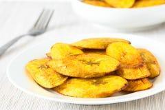 Fried Slices von reifen Bananen Lizenzfreie Stockfotos