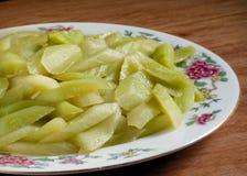 Fried slicing cucumber hot dish Stock Photos