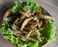 Fried small fish. In thailand Stock Photo