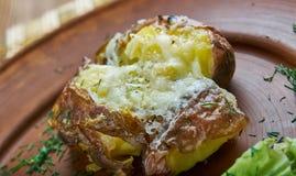 Fried Smashed Potatoes Immagini Stock