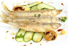 Fried smelt Royalty Free Stock Image
