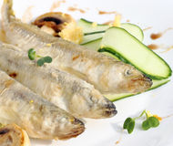 Fried smelt Stock Image