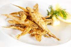 Fried smelt fish Stock Image
