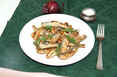 Fried smelts Baltic fish on a dish Royalty Free Stock Photography