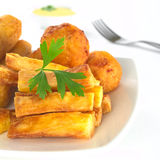 Fried Snacks out of Manioc Royalty Free Stock Image