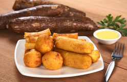Fried Snacks out of Manioc Stock Image