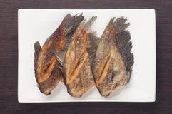 Fried snakeskin gourami Stock Photos