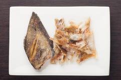 Fried snakeskin gourami Royalty Free Stock Images