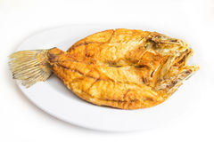 Fried snapper fish Royalty Free Stock Images