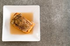 Fried Snapper Fish with Fish Sauce Stock Images