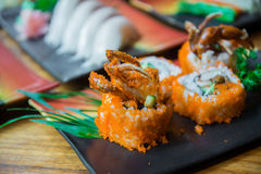 Fried soft shell crab sushi Royalty Free Stock Photography