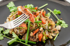 Fried softer crab with black peper, Thai seafood style Royalty Free Stock Photography
