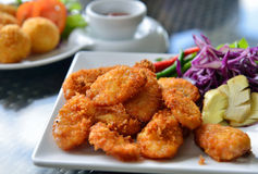 Fried sour pork  thailand food Royalty Free Stock Photos