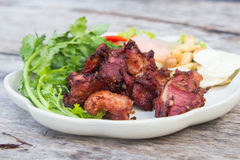 Fried sour ribs pork Stock Image