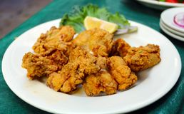 Fried south oysters in New Orleans. Fried southern oysters in New Orleans, south food royalty free stock images
