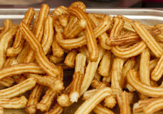 Fried Spanish Churros Stock Photos