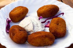 Fried Spanish Tapas plate Royalty Free Stock Image