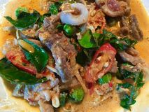 Fried spice roar. Is thai food royalty free stock image