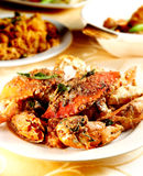 Fried spicy crab Royalty Free Stock Images