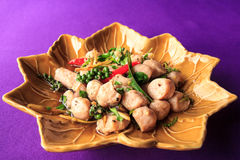 Fried spicy fish ball. Royalty Free Stock Photo