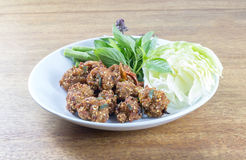 Fried spicy minced meat salad, lap Stock Photography