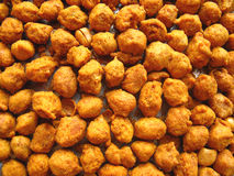 Fried spicy peanuts. Deep fried peanuts coated with gram flour and spices Royalty Free Stock Photos