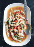 Fried spicy Razor Clams Stock Images