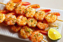 Fried spicy shrimps Royalty Free Stock Photography
