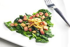 Fried spinach Royalty Free Stock Photo