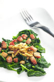 Fried spinach Royalty Free Stock Images