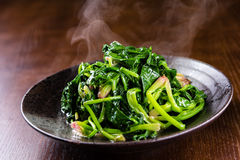 Fried Spinach Stock Images