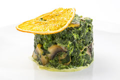 Fried spinach Royalty Free Stock Image