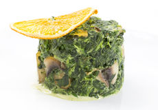 Fried spinach Stock Photography
