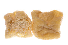Fried Spongy Beancurd Cubes Isolated. Isolated image of fried spongy beancurd cubes Stock Photography