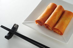 Fried spring roll. Chinese dim sum fried spring roll stock photos