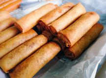 Fried spring roll (Por Pia Tod) Royalty Free Stock Photos