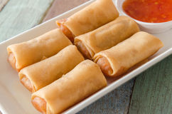 Fried spring roll Stock Images