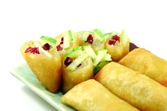 Fried Spring Rolls Stock Photo