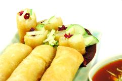 Fried Spring Rolls Royalty Free Stock Images