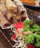 Fried Spring Rolls Royalty Free Stock Photography