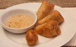 Fried spring rolls Royalty Free Stock Photos