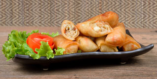 Fried Spring rolls food Royalty Free Stock Photos