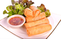 Fried  Spring rolls food Royalty Free Stock Images