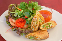 Fried spring rolls food Stock Photos