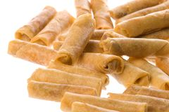 Fried Spring Rolls Isolated Royalty Free Stock Photography