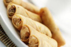 Fried spring rolls or popiah Stock Images