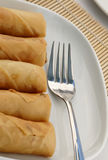 Fried spring rolls or popiah Royalty Free Stock Images